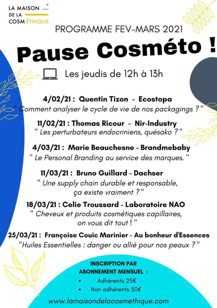Pause Cosméto La Maison de la Cosméthique fevrier